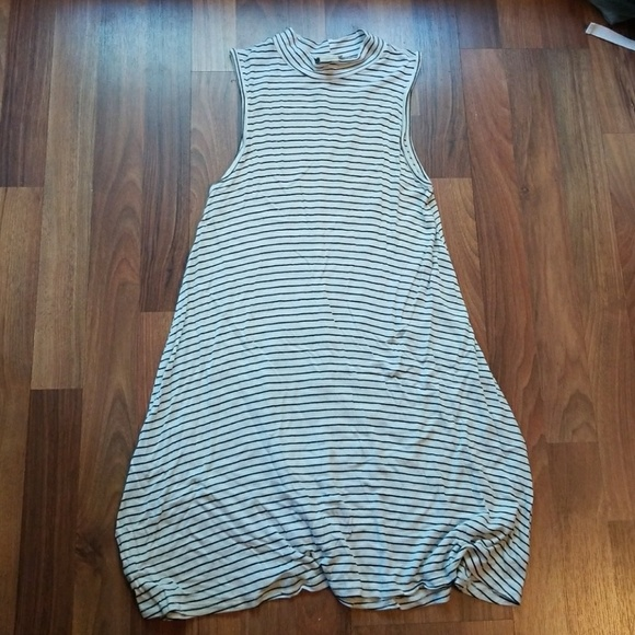 Wet Seal Tops - High Neck Striped Tank